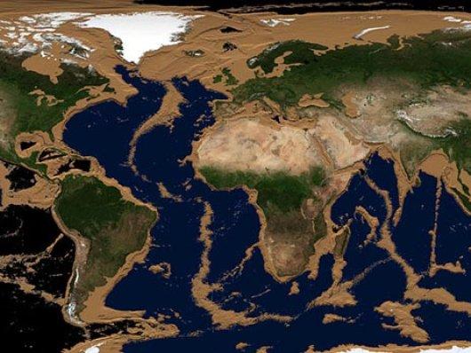 Animação de vídeo mostra como a Terra ficaria se toda a água fosse drenada